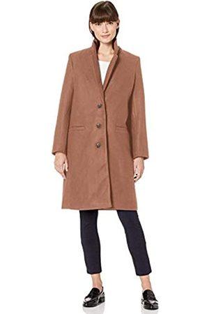 Amazon Plush Button-Front Coat outerwear, camel