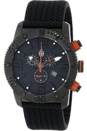 Burgmeister Burgmeister Herren-Armbanduhr XL Black Chrono Analog Quarz Silikon BM521-622B