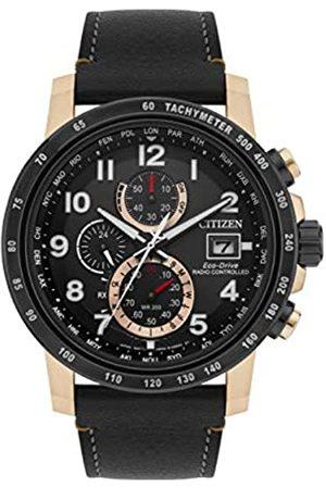 Citizen Citizen Herren Chronograph Quartz Uhr mit Leder Armband AT8126-02E