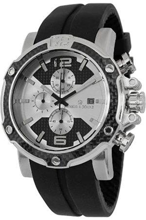 Herzog & Söhne Herzog & Söhne Herren-Armbanduhr XL Analog Quarz Silikon HS201-112