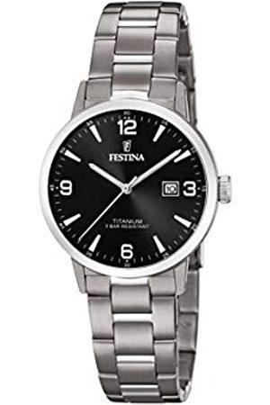 Festina Festina Unisex Erwachsene Analog Quarz Uhr mit Titan Armband F20436/3