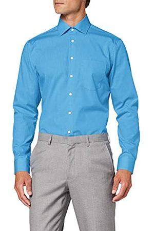Seidensticker Seidensticker Herren Einfarbiges, Schickes Hemd Mit Extra Kent-Kragen – Regular Fit – Langarm Businesshemd