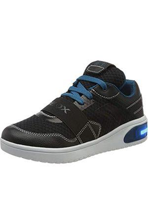 Geox Geox Jungen J XLED Boy B Sneaker, Schwarz (Black/Petrol C9269)