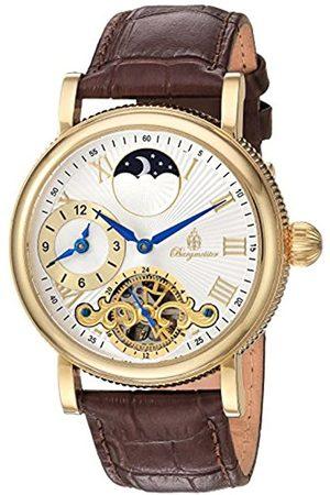 Burgmeister Burgmeister Armbanduhr für Herren mit Analog Anzeige, Automatik-Uhr und Lederarmband - Wasserdichte Herrenuhr mit zeitlosem