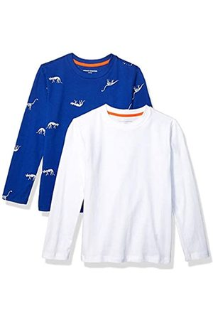 Amazon Amazon Essentials Boys' 2-Pack Long-Sleeve Tees athletic-shirts, Blue Dino Skeleton/White