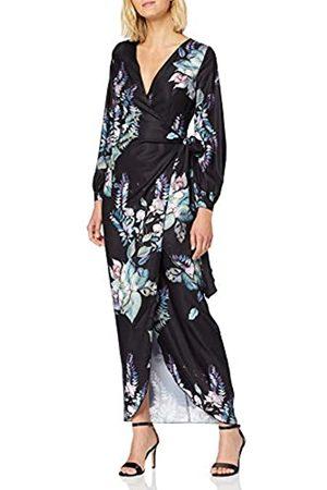 Little Mistress Damen Roxby Black Floral Long-sleeve Maxi Dress cocktailkleid