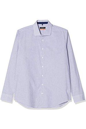 Seidensticker Herren Business Hemd – Gestreiftes Hemd mit hohem Tragekomfort und einem Kent-Kragen – Passform Slim Fit – Langarm – 100% Baumwolle, Mehrfarbig (Bla