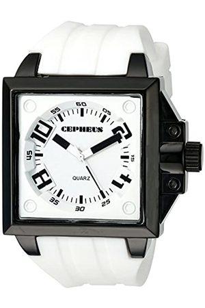 CEPHEUS CEPHEUS Herren-Armbanduhr Analog Quarz Silikon CP904-676
