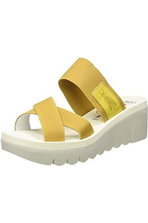 Fly London Fly London Damen Yabo593fly Pantoletten, Gelb (Bright Yellow (Beige) 005)