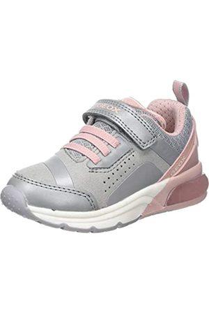 Geox Geox Mädchen J SPACECLUB GIRL C Sneaker Grau (Grey/Pink C0502) 34 EU