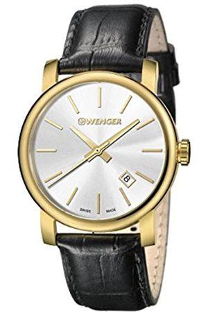Wenger Wenger Herren Analog Quarz Uhr mit Leder Armband 01.1041.119
