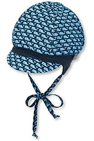 Sterntaler Ballonmütze für Jungen mit Bindebändern, Ohrenklappen und Muster mit Wal-Motiven, Baumwolle, Alter: 5-6 Monate