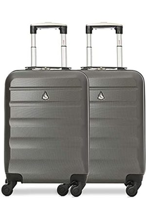 Aerolite Aerolite 2 Teilig Leichtgewicht ABS Hartschale 4 Rollen Handgepäck Trolley Koffer Bordgepäck Kabinentrolley Reisekoffer Gepäck