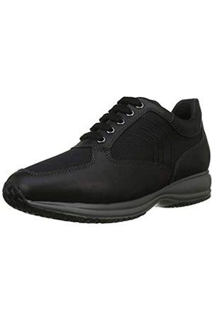 Geox Geox Herren Uomo Happy A Sneaker, Schwarz (Black C9999)