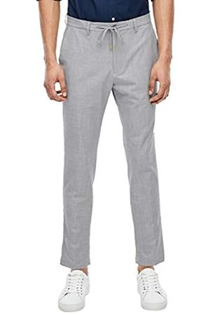 s.Oliver S.Oliver BLACK LABEL Herren Slim: Hose mit Webstruktur light grey melange 54