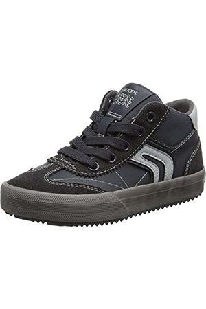 Geox Geox Jungen J Alonisso Boy C Hohe Sneaker, Grau (Dk Grey/Grey)