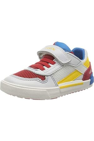 Geox Geox Baby Jungen B Kilwi Boy A Sneaker, Weiß (White/Dk Red C1026)