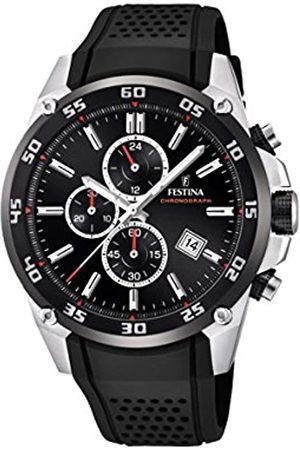 Festina Festina Unisex Erwachsene Chronograph Quarz Uhr mit Kautschuk Armband F20330/5
