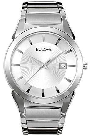 BULOVA Bulova Herren Analog Quarz Uhr mit Edelstahl Armband 96B015