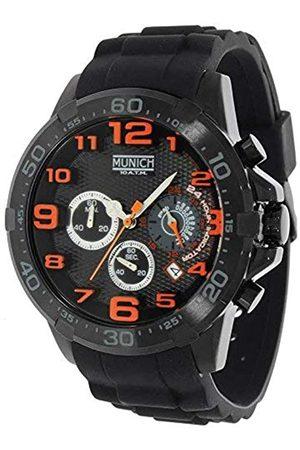 Munich Munich Unisex Erwachsene Analog Quarz Uhr mit Gummi Armband MU+137.1B