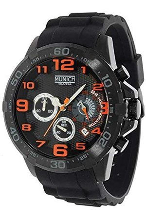 Munich Unisex Erwachsene Analog Quarz Uhr mit Gummi Armband MU+137.1B