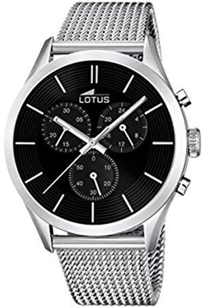 Lotus Lotus Herren Analoger Quarz Uhr mit Edelstahl Armband 18117/2