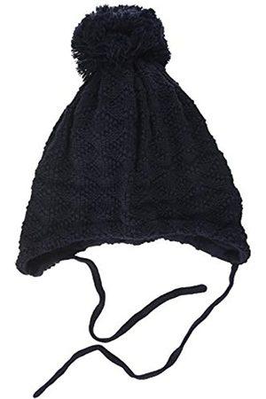 maximo Maximo Unisex Baby mit Struktur und Pompon und Bindeband Mütze