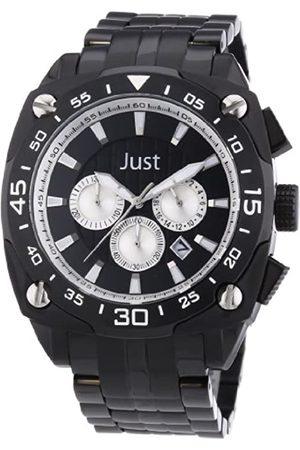 Just Watches Just Watches Herren-Armbanduhr XL Analog Quarz Edelstahl 48-STG2373BK-SL