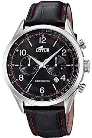 Lotus Lotus Herren Analoger Quarz Uhr mit Echtes Leder Armband 18557/4