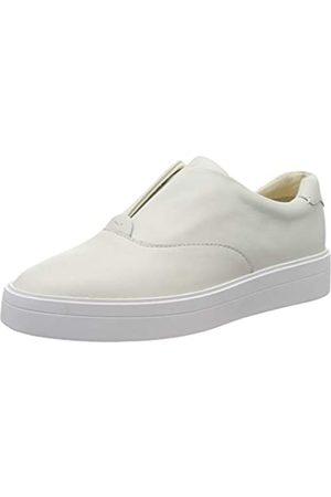 Clarks Damen Hero Step. Slip On Sneaker, (White Leather White Leather)