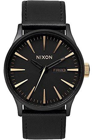 Nixon Nixon Herren Analog Quarz Uhr mit Leder Armband A1051041-00