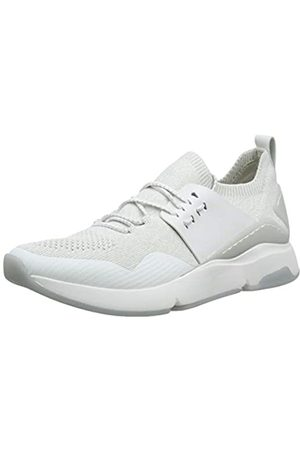 Cole Haan Damen Zerogrand All-Day Trainer Sneaker, (Optic White/Glacier Grey Knit/Optic White Leather/Optic White Optic White/Glacr)