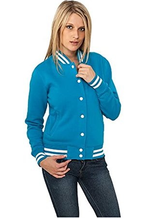 Urban classics Urban Classics Damen Collegejacke Ladies College Sweatjacket, Farbe turquoise