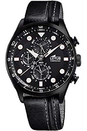 Lotus Herren Analog Quarz Uhr mit Leder Armband 18593/6