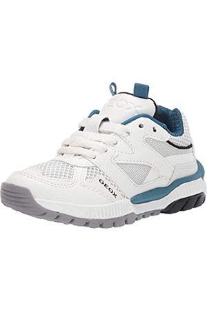 Geox Geox Jungen J Tuono Boy C Sneaker, Weiß (White/Petrol C1zj4)