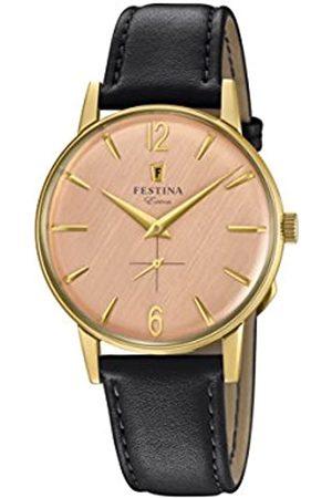 Festina Festina Herren Analog Quarz Uhr mit Leder Armband F20249/3