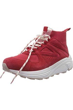 HUGO BOSS HUGO Damen Horizon_Runn_Knit_Mx Hohe Sneaker, Rot (Bright Red 621)