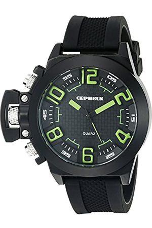 CEPHEUS CEPHEUS Herren-Armbanduhr XL Analog Quarz Silikon CP901-622D