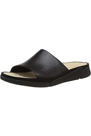 Clarks Clarks Damen Tri Slide Geschlossene Sandalen, Beige (Black Leather Black Leather)