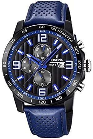 Festina Festina Unisex Erwachsene Chronograph Quarz Uhr mit Leder Armband F20339/4
