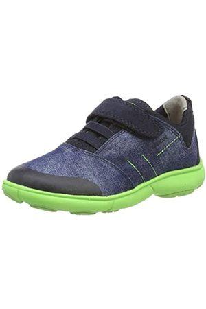 Geox Geox Jungen J Nebula Boy B Sneaker, Blau (Blue/Fluo Green C4457)