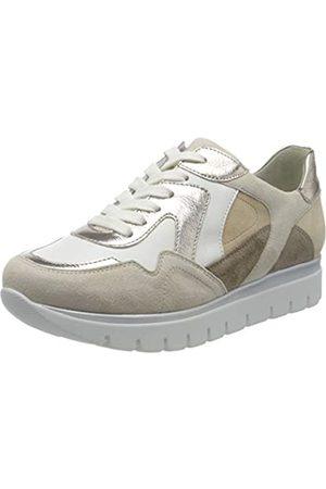 Semler Damen Silvia Sneaker, Mehrfarbig (Creme-Weiss-Puder-Panna-Camel 999)