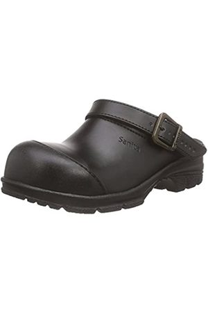 Sanita Sanita Workwear Unisex-Erwachsene San-Duty Open-SB Clogs, Schwarz (Black 2)