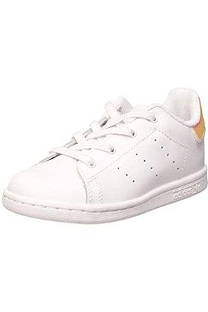 adidas Adidas Unisex-Kinder Stan Smith EL I Sneaker, FTWR White/FTWR White/Core Black