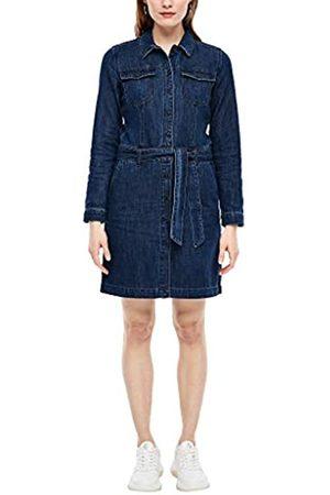 s.Oliver S.Oliver RED Label Damen Jeanskleid mit Stoffgürtel zum Binden 40