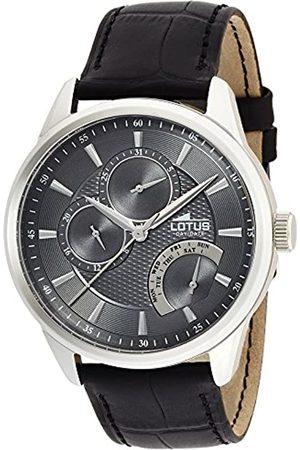 Lotus Lotus Herren Analoger Quarz Uhr mit Echtes Leder Armband 15974/4