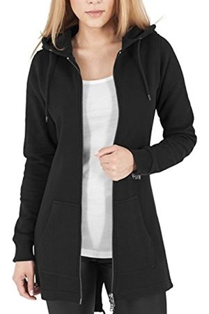 Urban classics Urban Classics Damen Sweatjacke Ladies Sweat Parka, lange Kapuzenjacke im Stil eines Zip Hoodie - Farbe schwarz