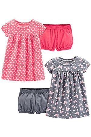 Simple Joys by Carter's Simple Joys by Carter's Baby & Kleinkind Mädchen 2er-Pack Kurzarm & Ärmellos Kleid Sets