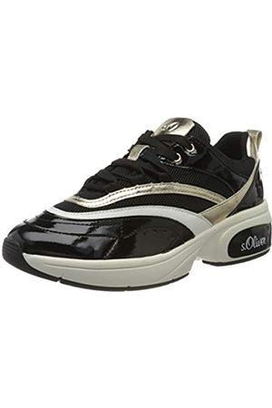 s.Oliver S.Oliver Damen 5-5-23671-24 Sneaker, Schwarz (Black/Gold 094)