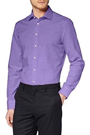 Seidensticker Seidensticker Herren Einfarbiges, Schickes Hemd Mit Extra Kent-Kragen – Slim Fit – Langarm Businesshemd